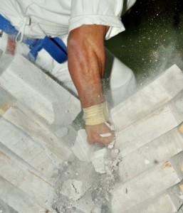 martial arts brick break