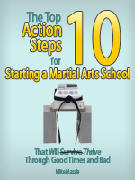 Top 10 Action Steps for Starting a Martial Arts School