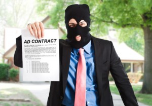 The worst advertising methods usually involve contracts
