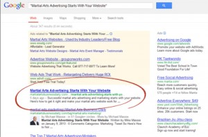 Title tag in the search results