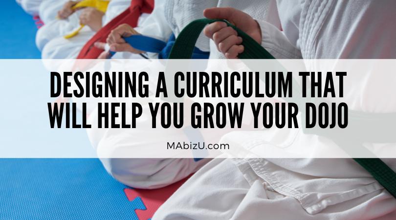 martial arts rotating curriculum design