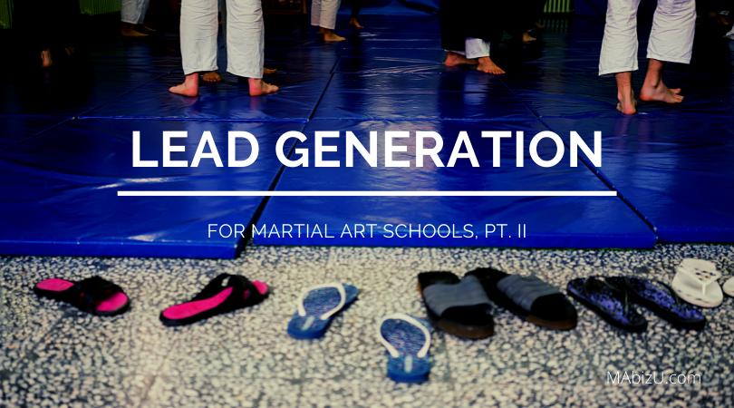 martial arts marketing lead generation