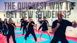 get new martial arts students