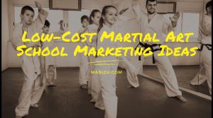 low cost karate marketing