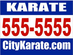 martial arts yard sign