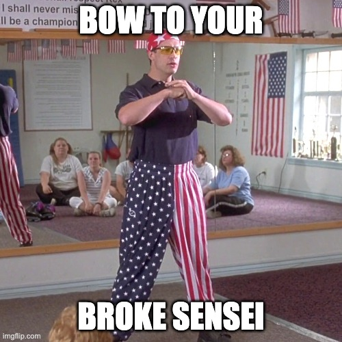 broke martial arts instructor