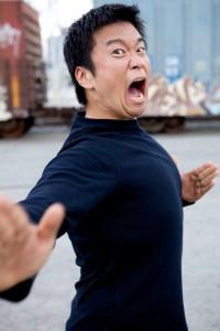 Silly karate man