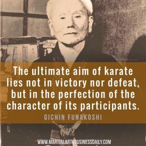 Gichin Funakoshi on perfection