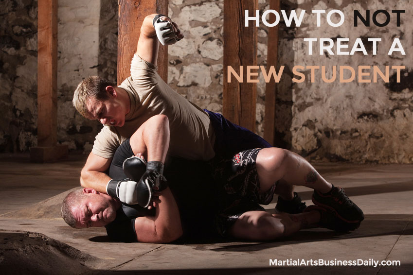 How to NOT treat a new martial arts student