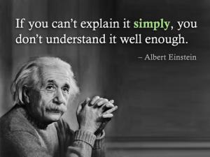Einstein on simplicity