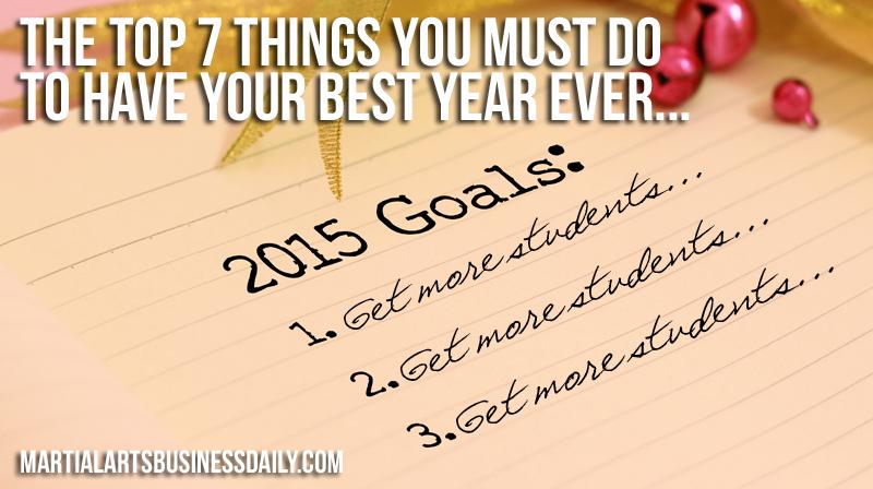 2015 goals for martial arts success