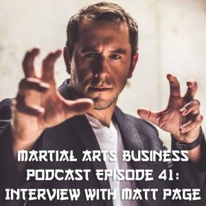 Matt Page who plays Master Ken on Enter the Dojo