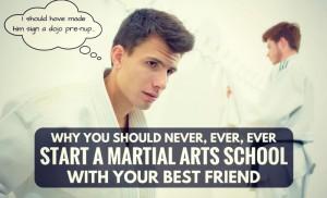 business partnership starting a martial art school