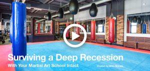 Martial art school recession survival video screenshot
